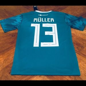 adidas Shirts - Adidas Muller Germany World Cup Away Jersey